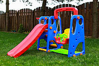 Детская площадка игровая 4 в 1 3 цвета