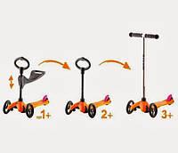 Детский трехколесный самокат беговел детский Micro Mini 3в1. Оригинал с Европы.