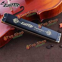 Easttop 24 отверстия тремоло гармонике ключ C для начинающих t2406k