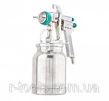 Фарборозпилювач AS 702 НР професійний, всмоктувального типу, сопло 1,8 мм і 2,0 мм Stels 57364