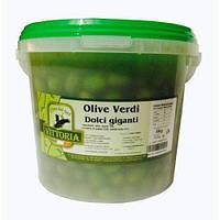 Гигантские зеленые оливки Vittoria Olive Verdi Dolce Giganti в ведре 5 кг