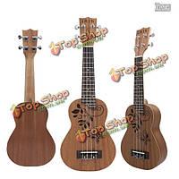 ИРИН 21 дюймов полые резные Sapele укулеле укулеле Гаваи рукоделие