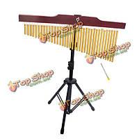 36 Note металлическая труба перезвон ветра перкуссии музыкальный инструмент с подставкой