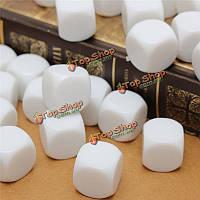25шт 16мм игровые белые кубики стандартная шесть кубик рпг для настольной игры дней рождения