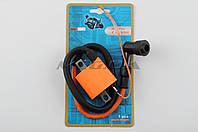 Катушка зажигания (тюнинг) на мотоцикл с двигателем  4T CG125/150   (оранжевая, +насвечник)