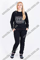 Трикотажный спортивный костюм ZARA черного цвета