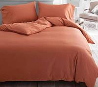 Однотонное постельное белье сатин люкс  Prestij Textile 08920
