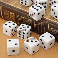 10шт 16мм игра в кости стандарт шесть кубик рпг для празднования дней рождения белых