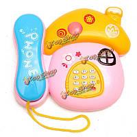Мультфильм Mushroon телефон с легкой музыки обучения игрушки для детей детей звук свет забавный подарок