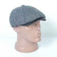 Кепка-восьмиклинка кашемировая зимняя мужская с ушами - Модель 29-420