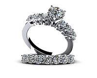 Кольца серебряные Помолвочные Бриллиант Tiffany&Co  2671