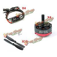Emax rs2205-2300kv CW/CCW бесщеточный двигатель Fvt littlebee 20а kingkong 5045 ESC пропеллера мощности комбо