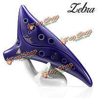 Zebra™ 12 отверстий окарина керамический альт с подводной лодки типа Zelda Ocarina