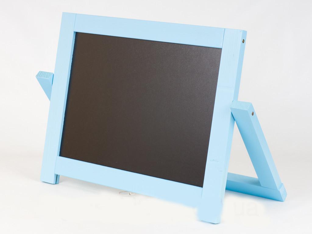 Мольберт настольный окрашенный (голубой) Игруша двухсторонний 2 в 1 с магнитной доской