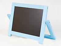 Мольберт настольный окрашенный (голубой) Игруша двухсторонний 2 в 1 с магнитной доской, фото 1