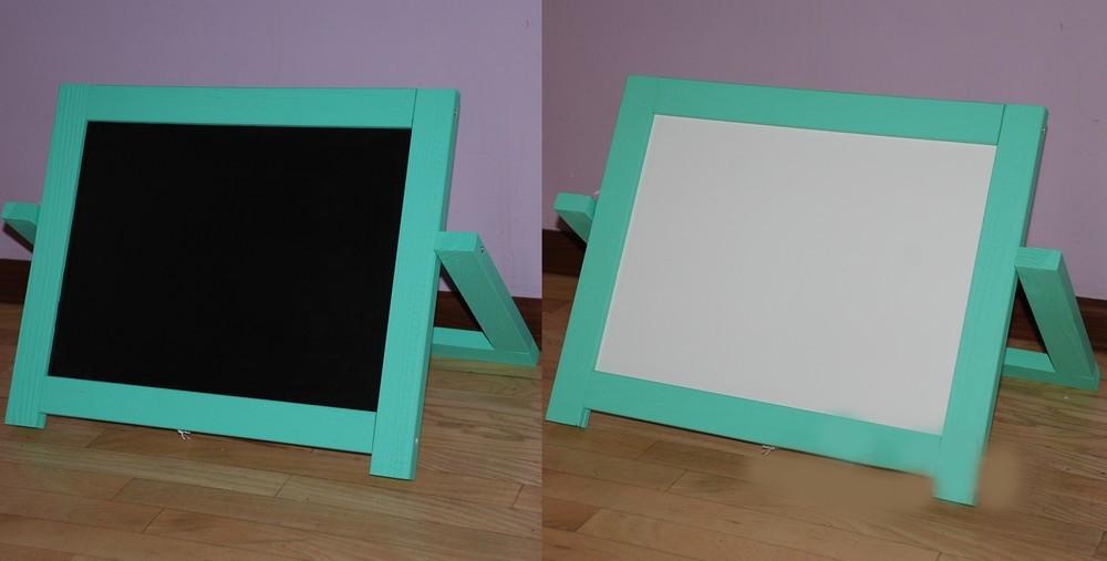 Мольберт настольный окрашенный (Салатовый) Игруша двухсторонний 2 в 1 с магнитной доской