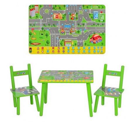 Столик M 2102 деревянный с 2 стульчиками