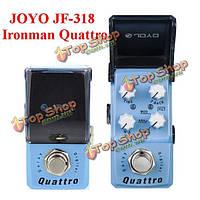 JOYO Ironman JF-318 QUATTRO цифровая задержка мини-гитары педаль эффекта