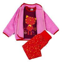 Детская одежда оптом Комплект куртка, штаны, джемпер для девочек YALOO оптом р.74-80-86см, фото 1