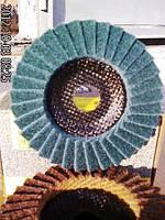 Лепестковый  круг из  скотчбрайта Klingspor SMT 800 very  fine 278500  по нержавейке , фото 1