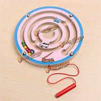Магнитный деревянный лабиринт лабиринт игра детей способность разрабатывать красочные образовательные игрушки подарок
