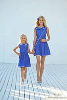 Короткое платье с воротничком   мама и дочка
