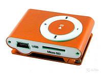 MP3 плеер в метал корпусе однотон, в расцветк, с прищепкой
