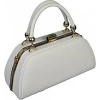 Женская сумка из кожзаменителя белого цвета