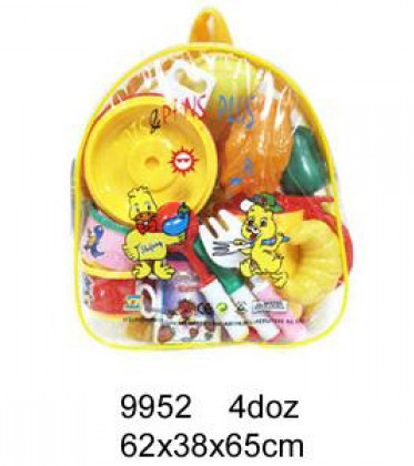 Посуда 9952 тарелки, продукты...в рюкзачке 62*38*65см