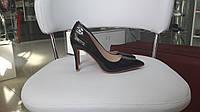 Женские Туфли черный лак каблук 9см, фото 1
