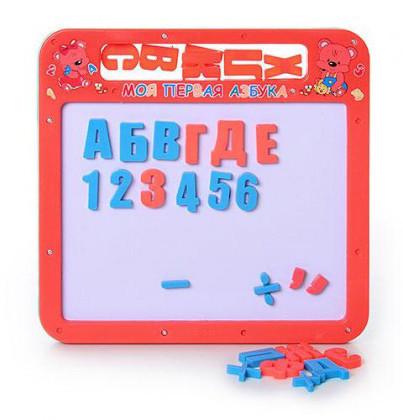 Досточка магнитная 0185 UK магнитная азбука маленькая, 2 в 1, русский, украинский алфавит