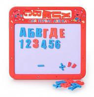 Досточка магнитная 0185 UK магнитная азбука маленькая, 2 в 1, русский, украинский алфавит, фото 1