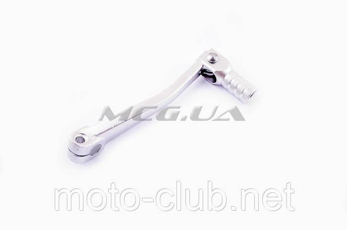 """Ножка переключения передач (стайлинговая) на мотоцикл с двигателем 4T CB/CG 125-250 """"RIDE IT"""" (mod:2, серебристая)"""