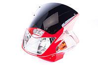 Обтекатель   на мотоцикл Viper (Zongshen), Lifan 125/150   (mod:2, с фарой и поворотами)   (красный)