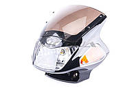 Обтекатель   на мотоцикл Viper (Zongshen), Lifan 125/150   (mod:2, с фарой и поворотами)   (черный)