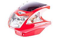 Обтекатель   на мотоцикл Viper (Zongshen), Lifan 125/150   (mod:4, с фарой и поворотами)   (красный)