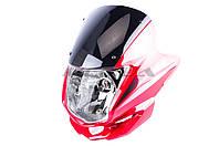 Обтекатель   на мотоцикл Viper (Zongshen), Lifan 125/150   (mod:3, с фарой)   (красный)