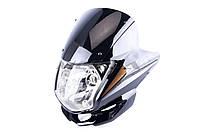 Обтекатель   на мотоцикл Viper (Zongshen), Lifan 125/150   (mod:3, с фарой)   (черный)