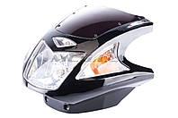 Обтекатель   на мотоцикл Viper (Zongshen), Lifan 125/150   (mod:4, с фарой и поворотами)   (черный)