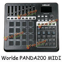 Worlde panda200 профессиональный USB контроллер барабан колодки миди клавиатуры