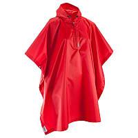 Пончо дождевик мужской Quechua 25L красный