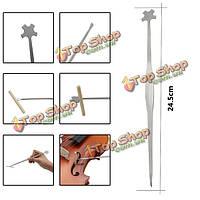 Скрипка из нержавеющей стали лады крюк звук после сеттер размещения скрипки инструмент