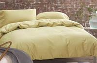 Однотонное постельное белье сатин люкс  Prestij Textile 08962 горчичный