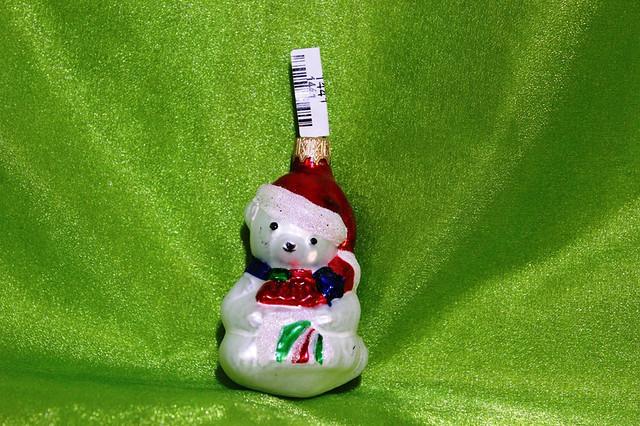 Новогодняя игрушка Медведь-Санта 1167