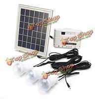 6w 6v многофункциональный солнечной энергии системы освещения комплект солнечной энергии
