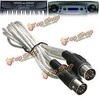 Середине 310 миди клавиатура инструмент интерфейсный кабель провод между мужчинами м / м 3m 10ft