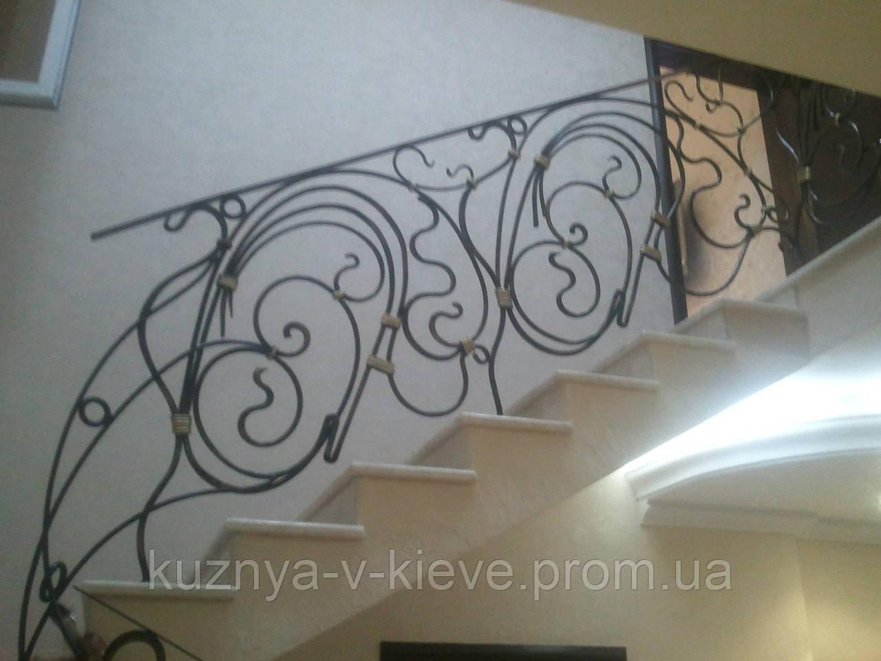 Кованые лестничные перила 30 02, фото 1