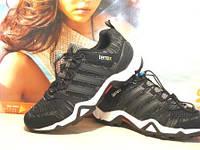 Кроссовки мужские для бега Adidas terrex черно-коричневые 43 р.