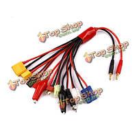 Многофункциональный баланс зарядный кабель XT60 xt90 т штекер EC5 Jst JR Futaba штепсель