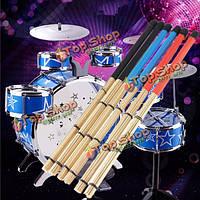 40см рок-джаз барабан щетки палочки  сделанные из бамбука резиновой ручкой древесины наконечником